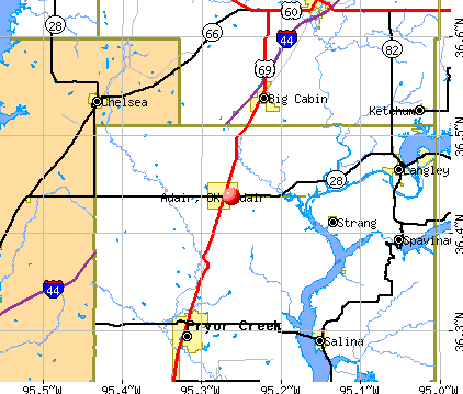 Adair, OK map