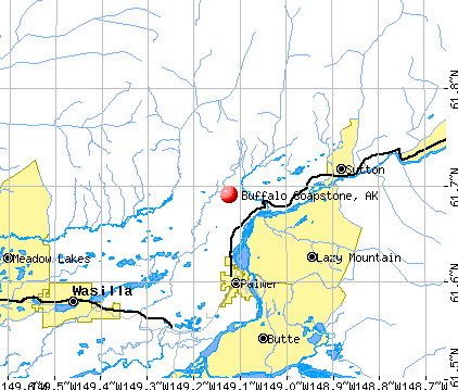 Buffalo Soapstone, AK map