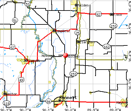 Holcomb, MO map