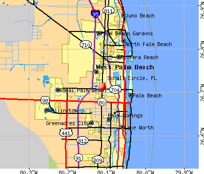 Schall Circle, FL map