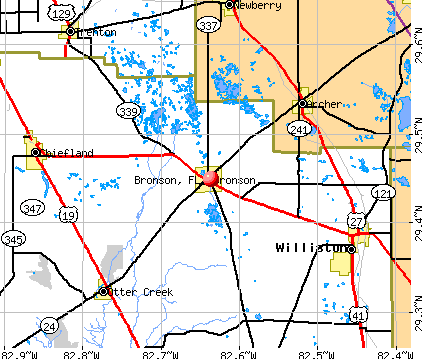Bronson, FL map