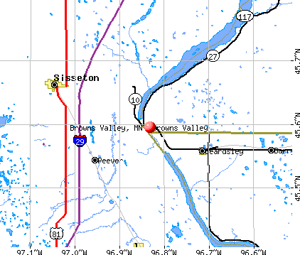 Browns Valley, MN map
