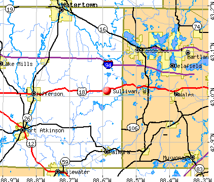 Sullivan, WI map