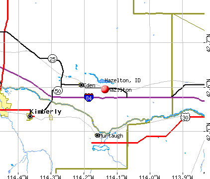 Hazelton, ID map