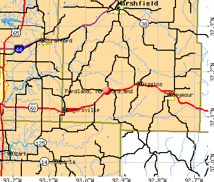 Fordland, MO map