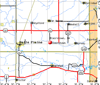 Blairstown, IA map