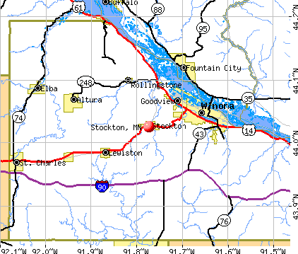 Stockton, MN map