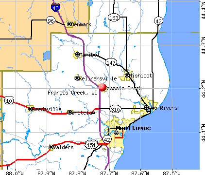 Francis Creek, WI map