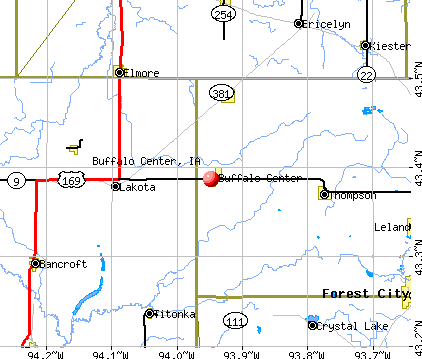 Buffalo Center, IA map