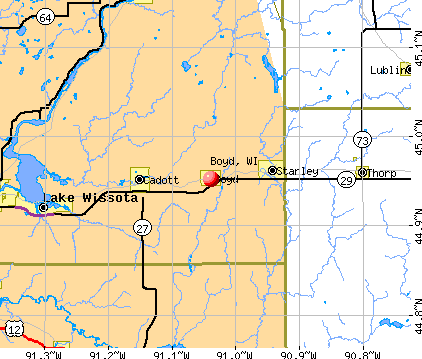 Boyd, WI map