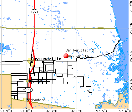 San Perlita, TX map