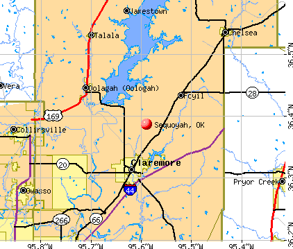 Sequoyah, OK map