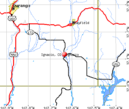 Ignacio, CO map