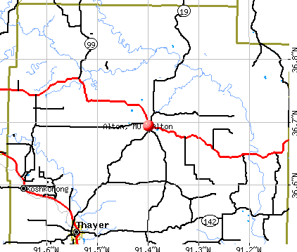 Alton, MO map
