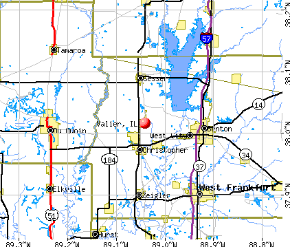 Valier, IL map