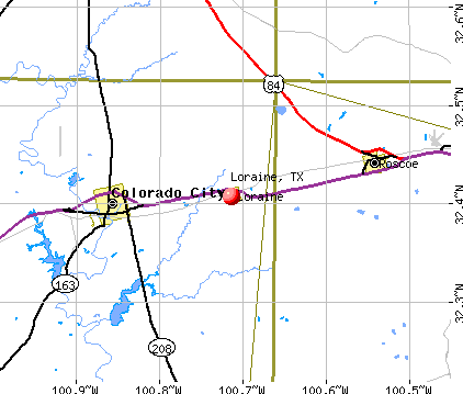 Loraine, TX map