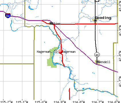 Hagerman, ID map