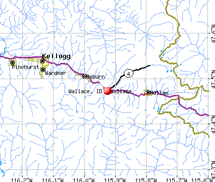 Wallace, ID map