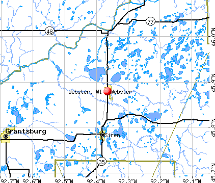Webster, WI map