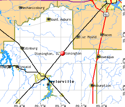 Stonington, IL map
