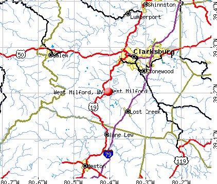 West Milford, WV map