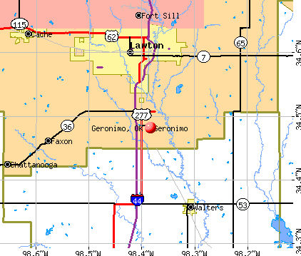 Geronimo, OK map