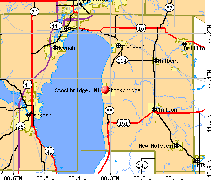 Stockbridge, WI map