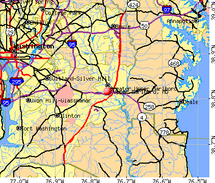 Upper Marlboro, MD map