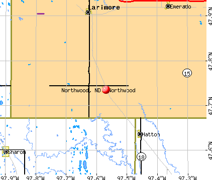 Northwood, ND map