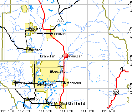 Franklin, ID map