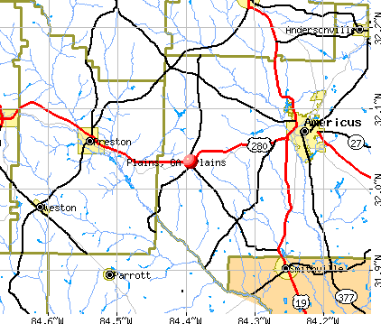 Plains, GA map
