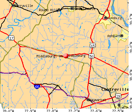 Middleburg, VA map