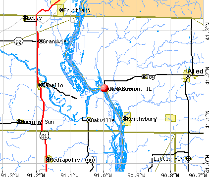 New Boston, IL map