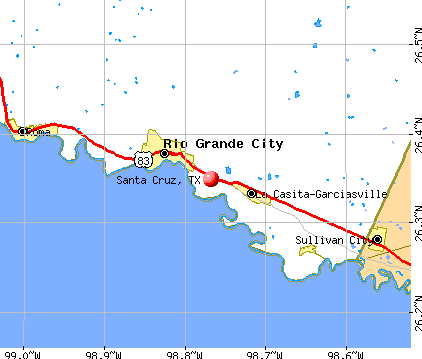 Santa Cruz, TX map