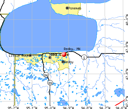 Redby, MN map