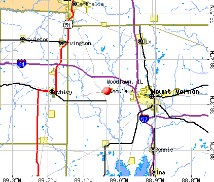 Woodlawn, IL map