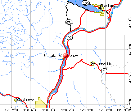 Entiat, WA map