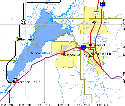 Arbon Valley, ID map