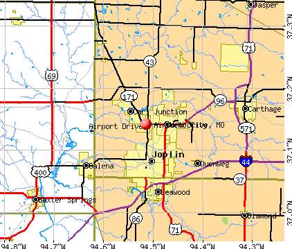 Airport Drive, MO map