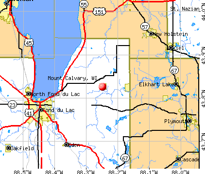 Mount Calvary, WI map