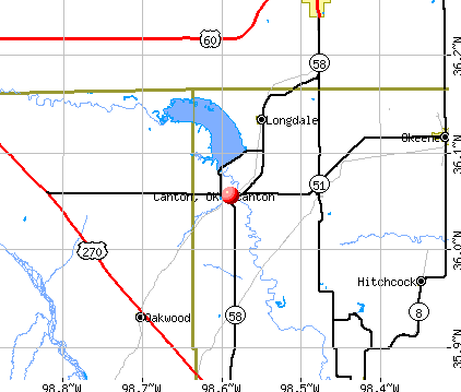Canton, OK map