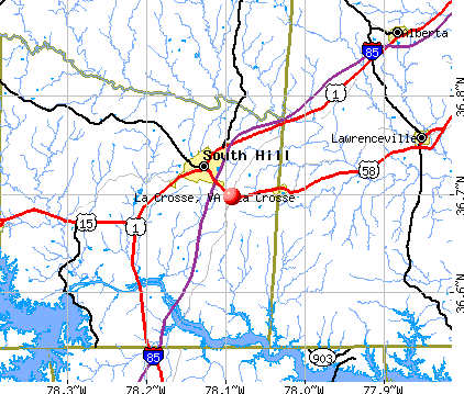 La Crosse, VA map