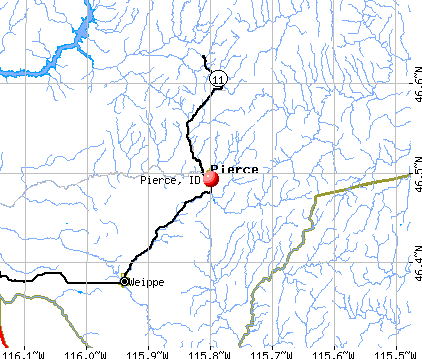 Pierce, ID map