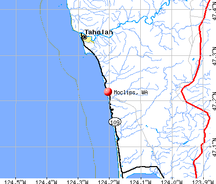 Moclips, WA map