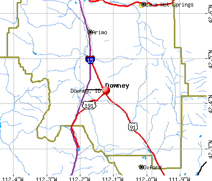 Downey, ID map