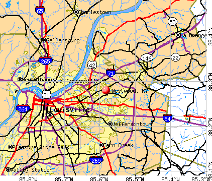 Westwood, KY map