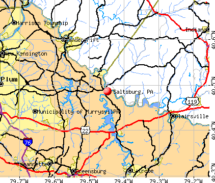 Saltsburg, PA map