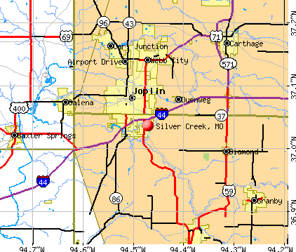 Silver Creek, MO map