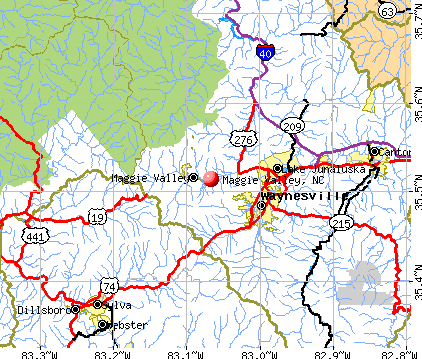 Maggie Valley, NC map