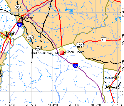 Newton Grove, NC map